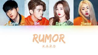 K.A.R.D - Rumor | Color Coded HAN/ROM/ENG Lyrics
