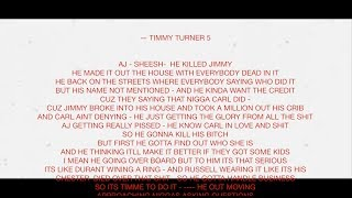 (LYRICS) Trapp Tarell - Timmy Turner  Story Pt 5