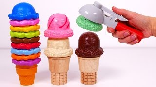 Ice Cream Cones Playset!! Learn Colors for Kids