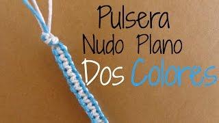 Pulsera Macrame Nudo Plano // Dos colores {Pulseras de Hilo}