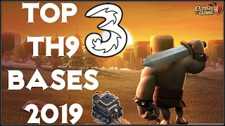 NEW TOP 3 TOWN HALL 9 FARMING/TROPHY BASES 2019! TH9 HYBRID DARK BASE UPDATE!! - CLASH OF CLANS(COC)