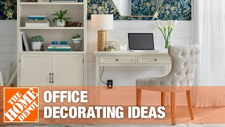 Video showing office decorating ideas.