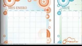 tutorial word creacin de calendarios