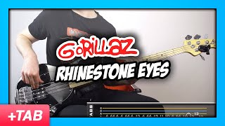 Gorillaz - Rhinestone Eyes | Bass Cover + Live Tabs