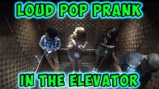 Loud Pop Prank in the Elevator