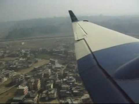 Airplane Takeoff and Landing at Katmandhu International Airport Nepal