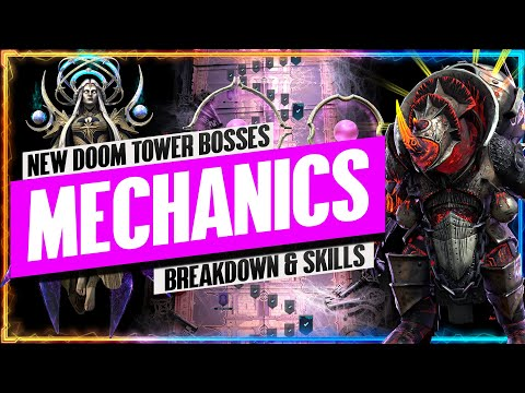 INSANE New Doom Tower BOSS MECHANICS | Astranyx & Bommal Skills Breakdown | RAID: Shadow Legends