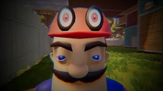 MY NEW NEIGHBOR IS MARIO FROM SUPER MARIO ODYSSEY - Hello Neighbor Beta 3 Mod