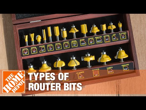 A video highlights features of types of router bits.