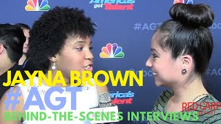 Jayna Brown interviewed behind-the-scenes at AMERICA'S GOT TALENT Season 11 #AGT