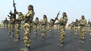 CRPF - RIFLE DRILL DEMONSTRATION ON THE OCCASION OF CRPF ANNIVESARY 2011.mpg width=