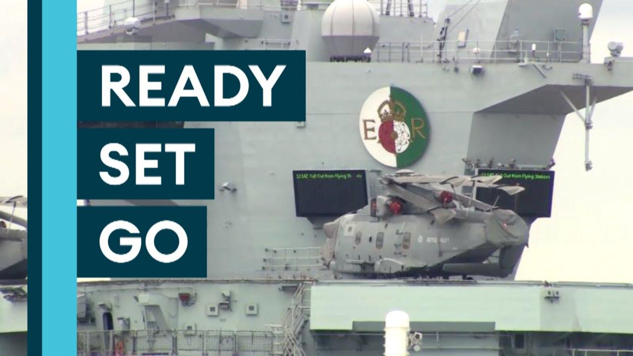 Carrier Strike: HMS Queen Elizabeth Prepares For Maiden Deployment