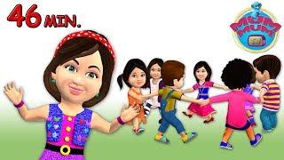 Ringa Ringa Roses Song - Kids Rhymes Videos |English Children Nursery Rhymes Songs | Little teapot