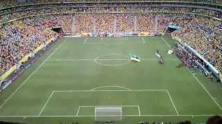 Copa das Confederações 2013 - Brasil x Japão - Hino Nacional Brasileiro