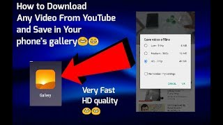 How to download videos from YouTube to your phone's memory card or internal memory  ( HD quality )