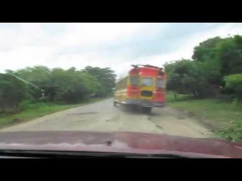 Driving dirt roads in Nicaragua