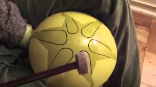 Efecto de sonido (Wah-Wah) en tambor SOLARIS. Toma desde arriba. VIDEO 1