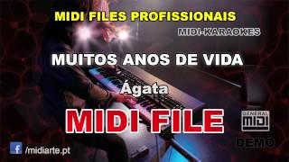♬ Midi file  - MUITOS ANOS DE VIDA - Ágata