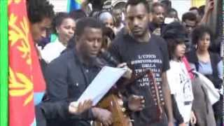 Video Assenna: VOICES FROM ROME DEMO:Zerisenay (Tezareb) Sings for Lampedusa Victims