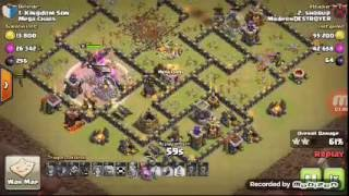 How to clear th 9 max war base with GOWIVA attack strategy