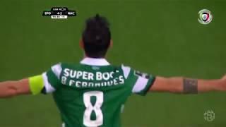 Goal | Golo Bruno Fernandes: Sporting (5)-2 Nacional (Liga 18/19 #13)