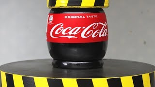 EXPERIMENT HYDRAULIC PRESS 100 TON vs COCA COLA width=
