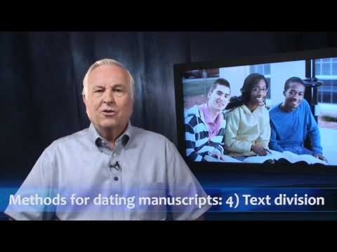 Methods for Dating Manuscripts