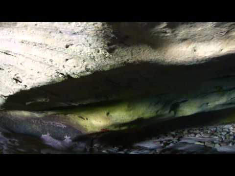 Inside the sea-cave at Arniston