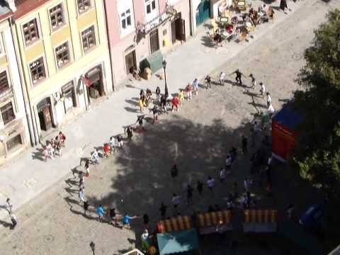 Dance Rehearsal, Filmed from a 65 Meters High Clock Tower