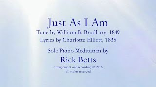 Just As I Am - Lyrics with Piano