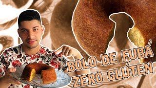 BOLO DE FUBÁ SEM GLÚTEN E SEM LACTOSE
