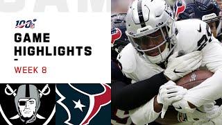 Raiders vs. Texans Week 8 Highlights   NFL 2019