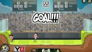 Football Legends 2016 gameplay Y8 - Messi vs Ronaldo
