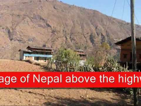 Nepali Middle hill Village Sceneries on video