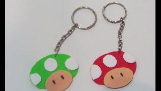 DIY / Faça você mesma: Chaveiro cogumelo Mario Bros