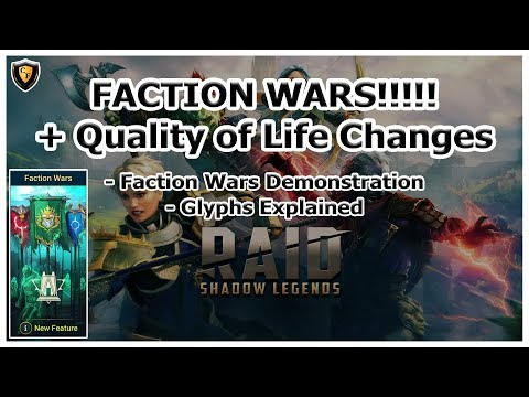 RAID Shadow Legends | FACTION WARS!!! + Quality of Life Changes and Glyphs!