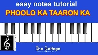 Phoolon Ka Taron Ka| Easy Notes Tutorial|The Solfege India