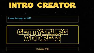 How To Create Your Own STAR WARS Intro Crawl In 1 Minute