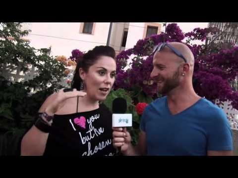 Lucky Life TV interviews DJ Lady Lea at Shardana during her 2011 Ibiza Tour