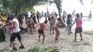 Goa rave party by russians(arambol beach)