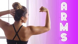 Toned & Defined Arms Workout! No weights needed! width=