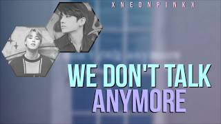 BTS JK & JM – We Don't Talk Anymore PT. 2 [Color Coded | Lyrics]
