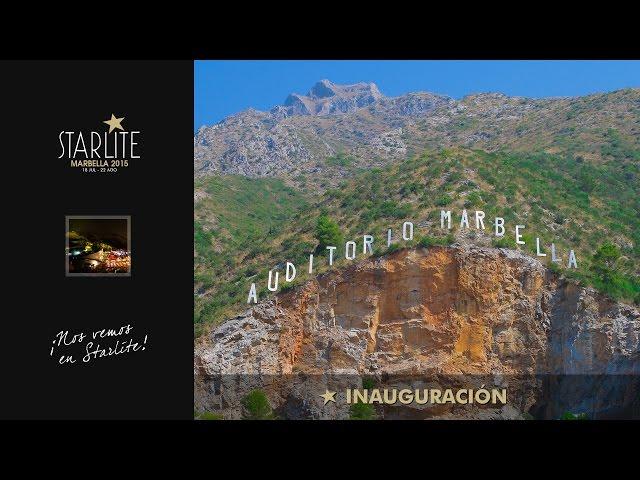 Vídeo Resumen de la Inauguración de Starlite Festival 2015.