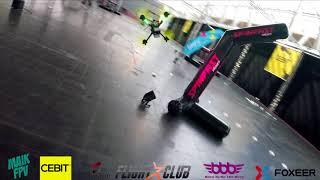 CeBit FPV Race 2018 | Qualification run + Battle with Spinfast Pilot VIPA