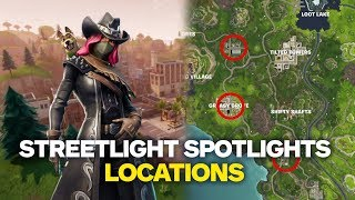 Fortnite: Dance Under Different Streetlight Spotlights