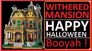 Withered Mansion Haunted House Scary Halloween Lemax Village Collection Toys Pumpkin Music Song