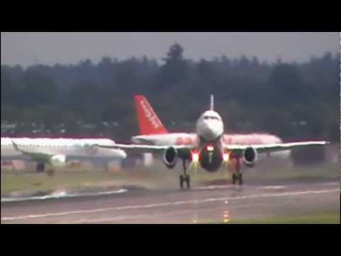 Wet And Windy Weekend At Gatwick Airport…..