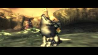 Wolf Link calling bird monster for a ride