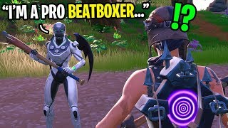 I met a professional BEATBOXER in Fortnite random duos... (YOU WON'T BELIEVE THIS!)