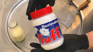 fluff Marshmallow Ice Cream Rolls | how to make ice cream with fluff Marshmallow spread